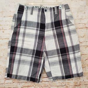 Arizona Plaid Bermuda Walking Shorts Men's Size 33